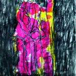 Binômes, Pastels et fusains sur papier, 30 x 42 cm, © Obodje 2019_BAAB