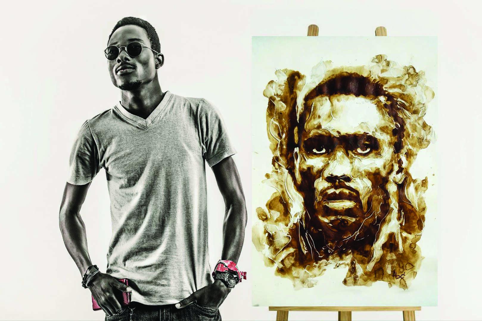 Zoom sur Ulrik Abé, l'artiste qui peint avec du café